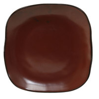 Tuxton GAR-500 TuxTrendz Artisan Red Rock 7 1/4 inch Square China Plate - 12/Case