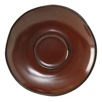 Tuxton GAR-084 TuxTrendz Artisan Red Rock 6 3/8 inch China Saucer - 24/Case