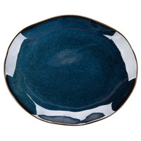 Tuxton GAN-023 Artisan Night Sky 13 1/4 inch x 11 inch China Platter - 12/Case