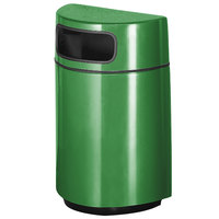 Rubbermaid FGH2436 Half Round Open Front Bright Green Fiberglass Waste Receptacle with Rigid Plastic Liner 18 Gallon (FGFGH2436PLBGN)