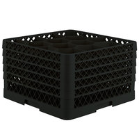 Vollrath TR18JJJJJ Traex® Rack Max Full-Size Black 12-Compartment 11 7/8 inch Glass Rack