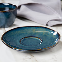 Tuxton GAN-084 TuxTrendz Artisan Night Sky 6 3/8 inch China Saucer - 24/Case