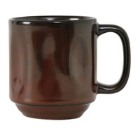 Tuxton GAR-150 TuxTrendz Artisan Red Rock 12 oz. Yukon China Mug - 24/Case