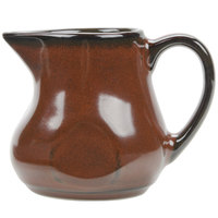 Tuxton GAR-100 Artisan Red Rock 4 oz. China Creamer - 12 / Case