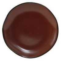 Tuxton GAR-005 TuxTrendz Artisan Red Rock 9 inch China Plate - 24/Case