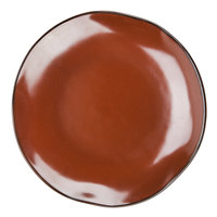 Tuxton GAR-005 TuxTrendz Artisan Red Rock 9 inch China Plate - 24/Case