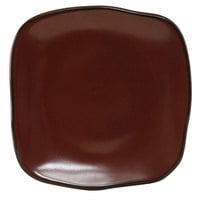 Tuxton GAR-501 TuxTrendz Artisan Red Rock 9 inch Square China Plate - 12/Case