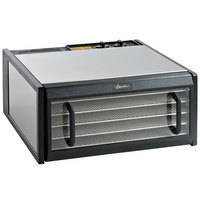 Excalibur D500CDSHD Stainless Steel Five Rack Food Dehydrator with Clear Door and Stainless Steel Trays - 440W