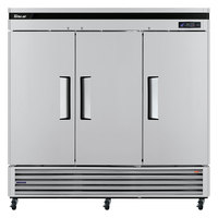 Turbo Air TSR-72SD Super Deluxe 82 inch Solid Door Reach In Refrigerator