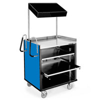 Lakeside 660 4 Shelf Stainless Steel Compact Vending Cart with Royal Blue Laminate Finish - 28 1/4 inch x 49 inch x 72 1/4 inch