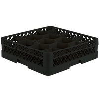 Vollrath TR18J Traex Rack Max Full-Size Black 12-Compartment 4 13/16 inch Glass Rack
