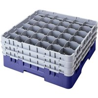 Cambro 36S800186 Navy Blue Camrack 36 Compartment 8 1/2 inch Glass Rack