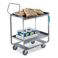 Lakeside 4544 Handler Series Stainless Steel Three Shelf Heavy Duty Utility Cart - 38 3/8 inch x 22 3/8 inch x 49 1/8 inch