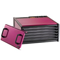 Excalibur D500RR Radiant Raspberry Five Rack Food Dehydrator with Timer - 440W