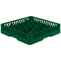 Vollrath TR18 Traex® Rack Max Full-Size Green 12-Compartment 3 1/4 inch Glass Rack