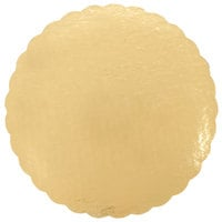 12 inch Cake Circle Gold Laminated Corrugated - 100/Case