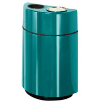 Rubbermaid FGH2436SUT Half Rounds Open-Top Sea Green Fiberglass Waste Receptacle with Rigid Plastic Liner and Sand Urn Cap Ash Tray 24 Gallon (FGFGH2436SUTPLSGN)