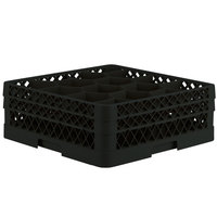 Vollrath TR18JJ Traex Rack Max Full-Size Black 12-Compartment 6 3/8 inch Glass Rack