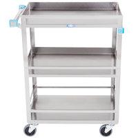 Lakeside 316 Stainless Steel Three Shelf Utility Cart - 27 1/2 inch x 16 1/4 inch x 33 3/8 inch