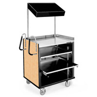 Lakeside 660 4 Shelf Stainless Steel Compact Vending Cart with Hard Rock Maple Laminate Finish - 28 1/4 inch x 49 inch x 72 1/4 inch