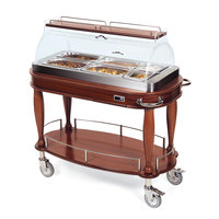 Geneva 70180 Heated Appetizer Cart with Bordeux Veneer - 120V