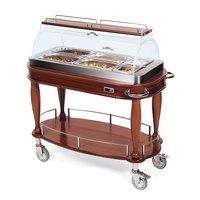 Geneva 70180 Heated Appetizer Cart with Bordeux Veneer - 120V