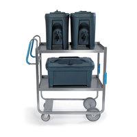 Lakeside 5930 Stainless Steel Two Shelf Ergo-One System Utility Cart - 57 3/16 inch x 21 5/8 inch x 46 3/4 inch