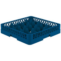 Vollrath TR18 Traex® Rack Max Full-Size Royal Blue 12-Compartment 3 1/4 inch Glass Rack
