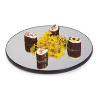 Geneva 276 22 inch Round Rimless Mirror Food Display Tray