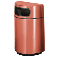 Rubbermaid FGH2436 Half Round Open Front Terra Cotta Fiberglass Waste Receptacle with Rigid Plastic Liner 18 Gallon (FGFGH2436PLTRC)