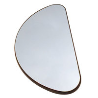 Geneva 282 24 inch Half Round Rimless Mirror Food Display Tray