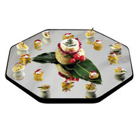 Geneva 291 34 inch Octagon Rimless Mirror Food Display Tray