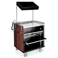 Lakeside 660 4 Shelf Stainless Steel Compact Vending Cart with Red Maple Laminate Finish - 28 1/4 inch x 49 inch x 72 1/4 inch