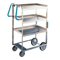 Lakeside 5925 Stainless Steel Three Shelf Ergo-One System Utility Cart - 41 3/8 inch x 21 5/8 inch x 46 3/4 inch