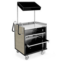 Lakeside 660 4 Shelf Stainless Steel Compact Vending Cart with Beige Suede Laminate Finish - 28 1/4 inch x 49 inch x 72 1/4 inch
