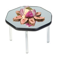 Geneva 2279 22 inch Octagon Rimless Stacking Mirror Food Display Tray