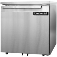 Continental Refrigerator SWF27-U 27 inch Low Profile Undercounter Freezer - 7.4 Cu. Ft.