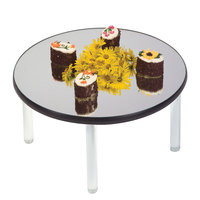 Geneva 2271 12 inch Round Rimless Stacking Mirror Food Display Tray