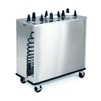 Lakeside 6300 Stainless Steel Mobile Enclosed Three Stack Heated Dish Dispenser / Warmer for Dishes up to 5 inch - 120V