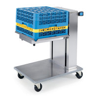 Lakeside 816 Stainless Steel Mobile Cantilever Tray Dispenser for 10 inch x 20 inch Trays