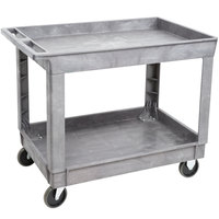 Lakeside 2523 Plastic Deep Well Two Shelf Utility Cart - 40 1/4 inch x 25 1/2 inch x 32 3/4 inch