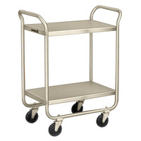 Lakeside 210 Stainless Steel Two Shelf Tubular Utility Cart - 27 inch x 17 1/2 inch x 35 3/4 inch