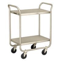 Lakeside 210 Stainless Steel Two Shelf Tubular Utility Cart - 27 inch x 17 1/2 inch x 35 3/4 inch