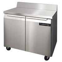 Continental Refrigerator SWF36-BS 36 inch Two Door Worktop Freezer with Backsplash - 10.3 cu. ft.
