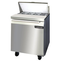 Continental Refrigerator SW27-8 27 inch 1 Door Refrigerated Sandwich Prep Table