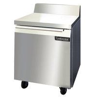 Continental Refrigerator SWF27-BS 27 inch Single Door Worktop Freezer with Backsplash - 7.4 cu. ft.