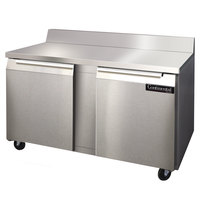 Continental Refrigerator SWF60-BS 60 inch Two Door Worktop Freezer with Backsplash