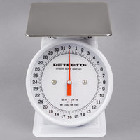 Cardinal Detecto PT-2 32 oz. Top Loading Fixed Dial Scale with 5 3/4 inch x 5 3/4 inch Platform
