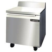Continental Refrigerator SWF32-BS 32 inch Single Door Worktop Freezer with Backsplash - 9 cu. ft.