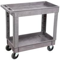Lakeside 2521 Plastic Deep Well Two Shelf Utility Cart - 34 1/2 inch x 17 1/2 inch x 32 3/4 inch